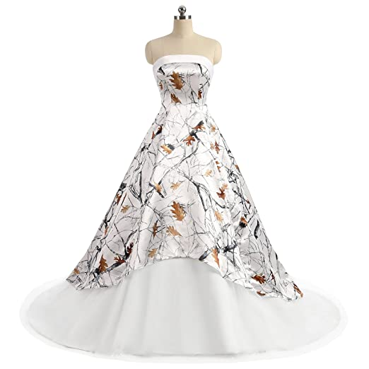 iLovewedding Realtree Camo Wedding Dresses Strapless A_Line ...