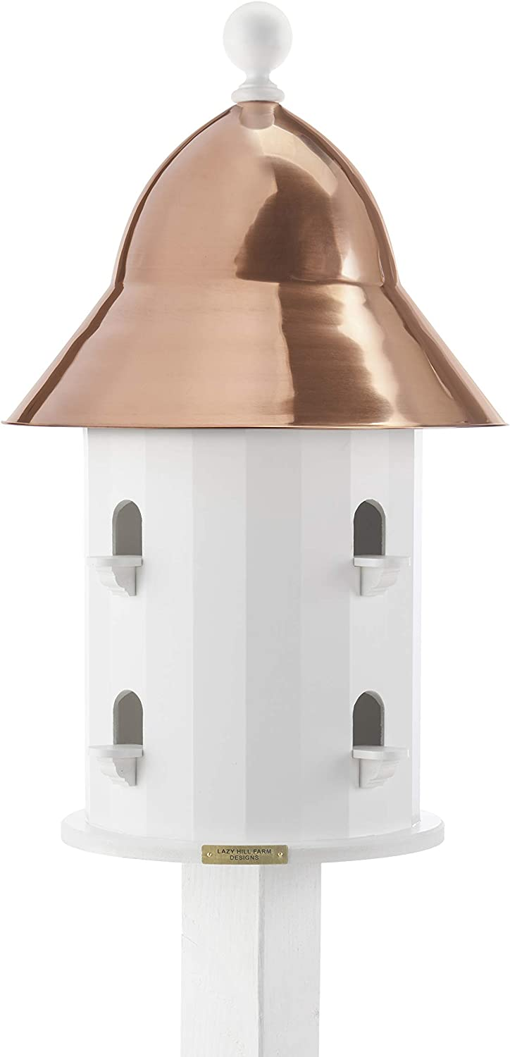 Lazy Hill Farm Designs 42413 Bell House White Solid Cellular Vinyl with Spun Polished Copper Roof, 17-Inch by 26 3/4-Inch