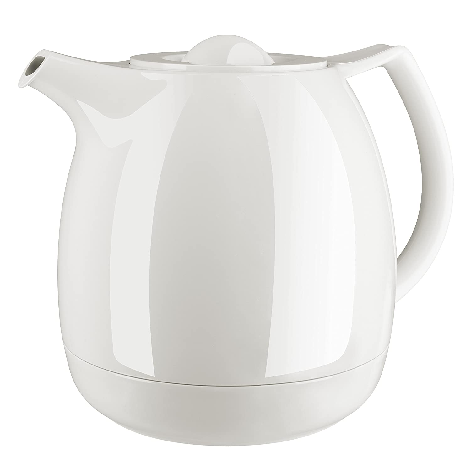 Emsa 503696 Ellipse vacuum tea pot with strainer, 0.6 litres, white