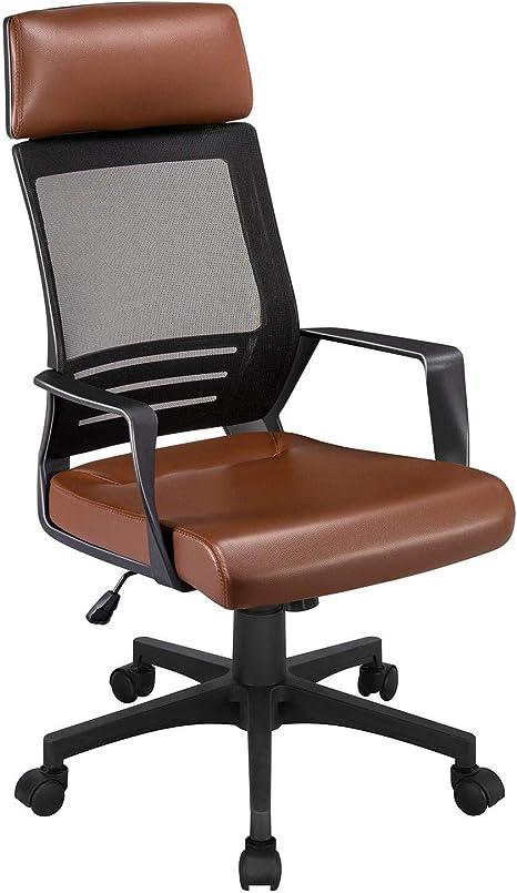 Yaheetech Gaming Chair Office Chair Desk Chair Ergonomic Swivel Computer Chair Executive Chair With Headrest For Soho Or Office Work Amazon De Kuche Haushalt