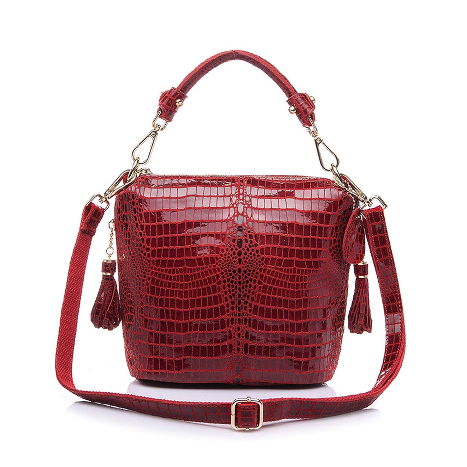 873c56a939 Amazon.com  Cherryi genuine leather handbags women small totes shoulder  crossbody bags ladies classic