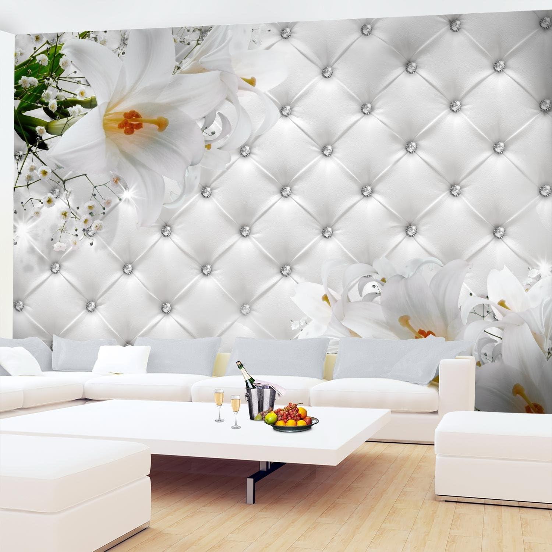 100/% FABRIQU/É EN ALLEMAGNE 9185012a Tapisserie Photo Fleurs 396 x 280 cm Laine papier peint Salon Chambre Bureau Couloir d/écoration Peinture murale d/écor mural moderne