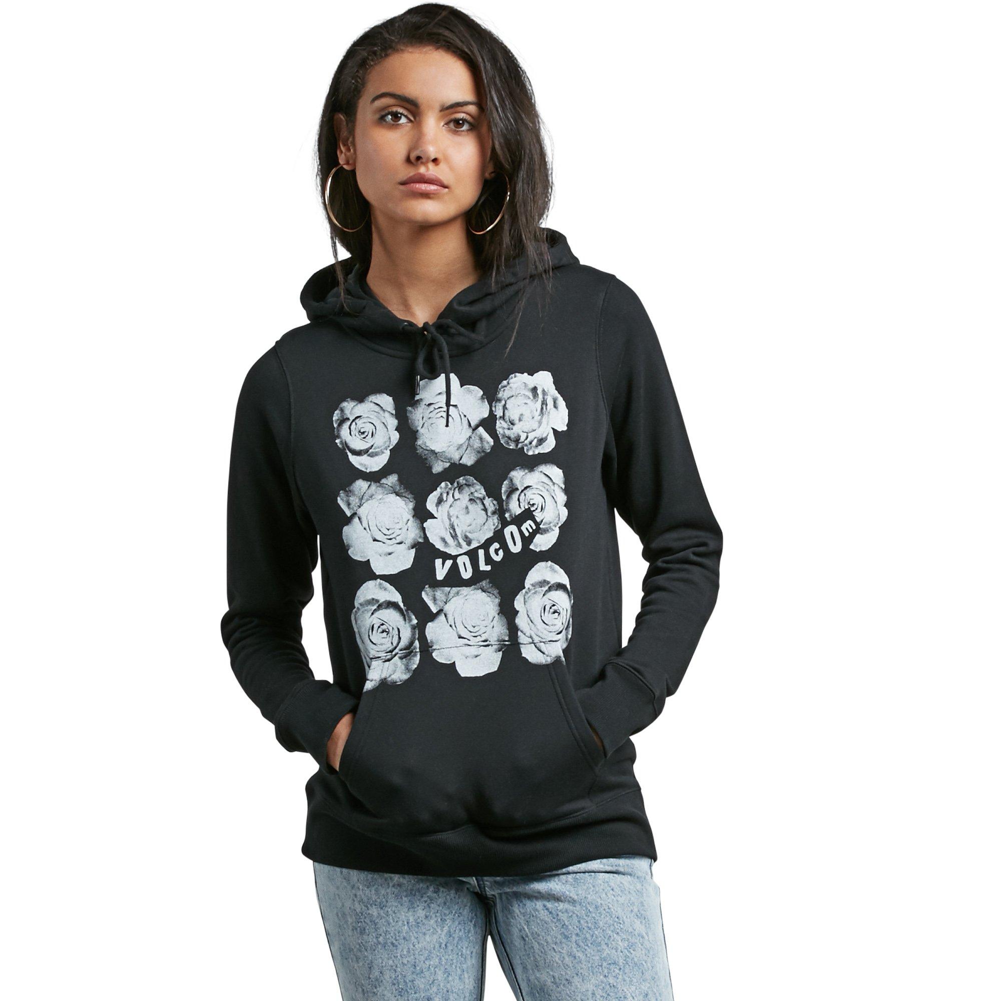 Volcom Junior's Vol Stone Pullover Lined Hoody Sweatshirt, Black, L