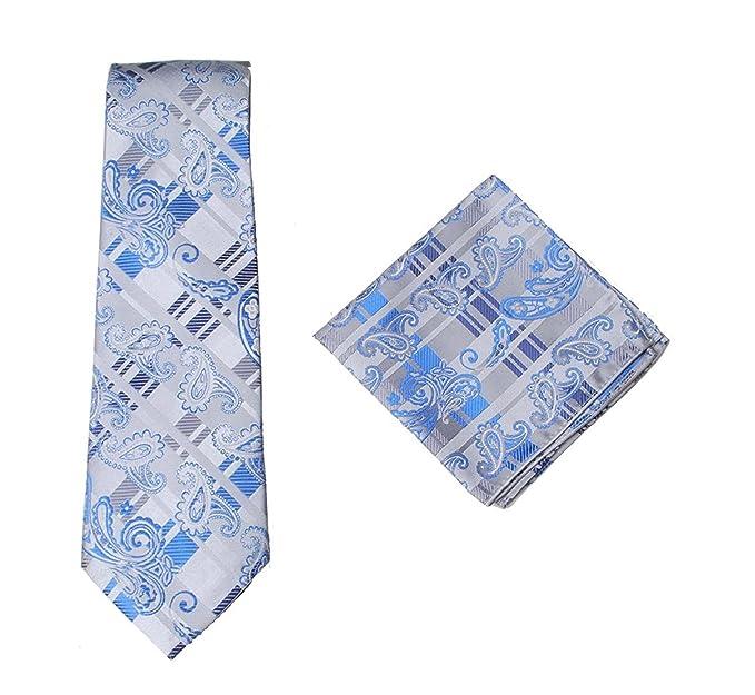 Jenson Samuel Shirts Para hombre formal Premium Tie pañuelo 100% Seda Almohada de algodón Paisley cuadrados de bolsillo boda/Handkercief & Tie ...