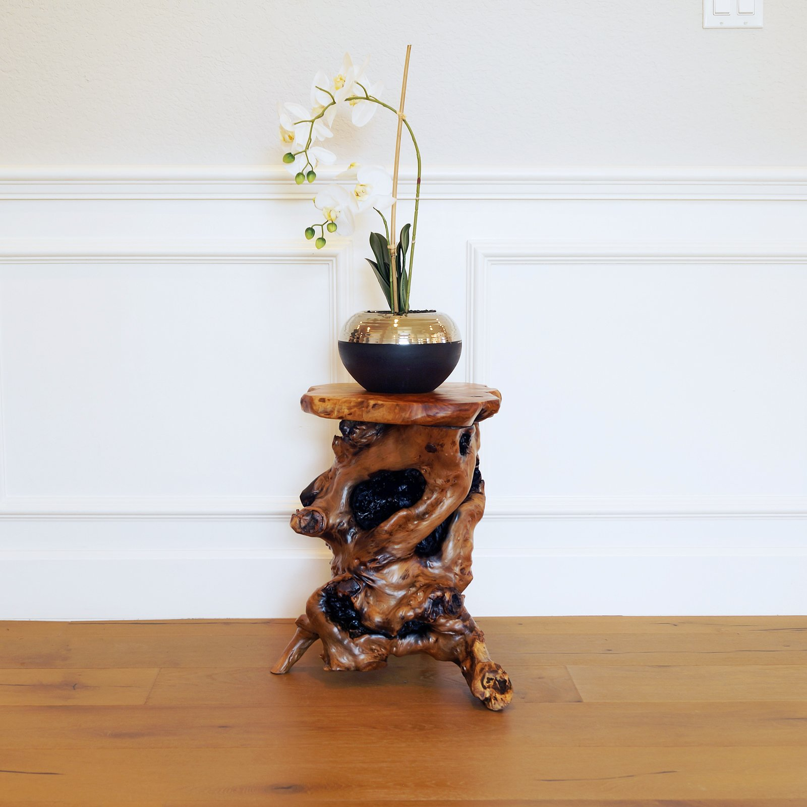 Welland Tree Stump Side Table Live Edge Stool 20 Quot Tall