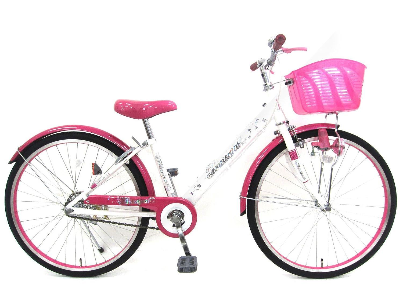 24インチ 子供自転車 プリンシパル シングルギア B075YC2K1Yホワイトピンク