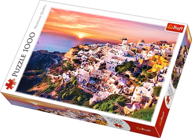 Puzzle 1000 Zachód slonca nad Santorini: Amazon.es: Juguetes y juegos