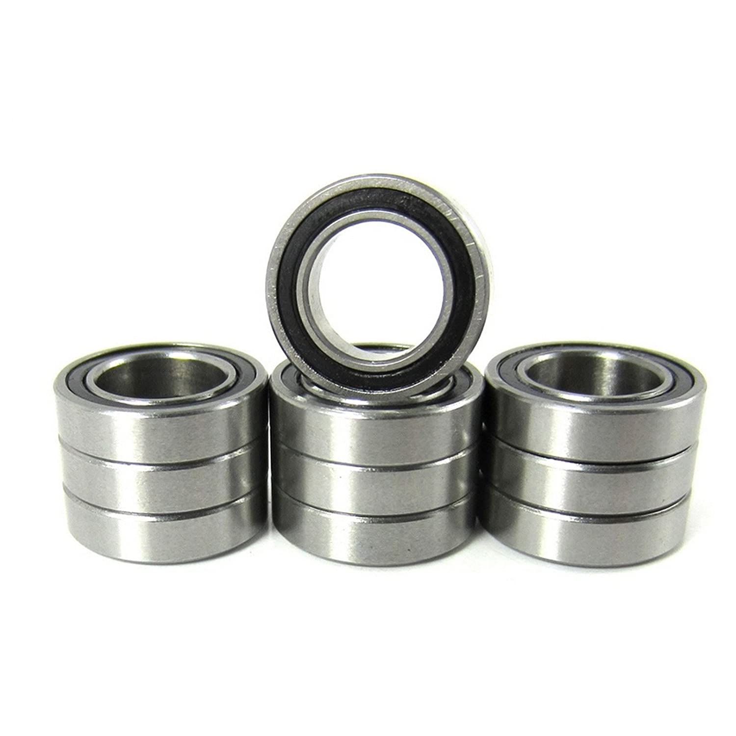 "10pcs. 3/8x5/8x5/32"" Precision Ball Bearings Chrome Steel ABEC 3 Rubber Seals TRB RC"