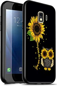 Galaxy J2 Core Case,J2 (2019) Case,J2 Dash Case,J2 Pure Case,J260 Case,Soft Silicone Protective Cover for Samsung Galaxy J2 Core, Sunflower Owl You are My Sunshine