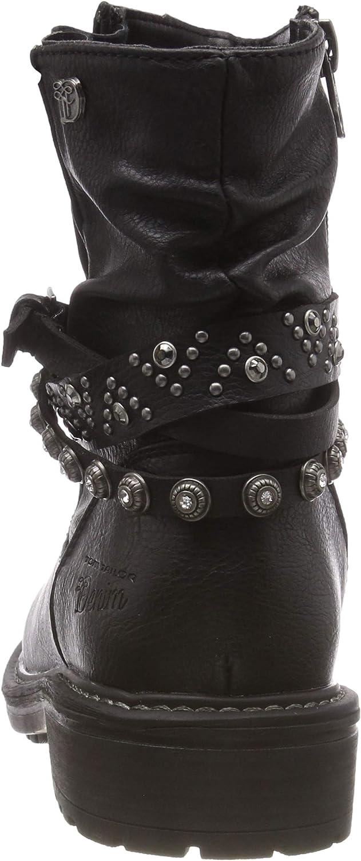 Original Neu Werksverkauf TOM TAILOR Damen 5895204 Stiefeletten Schwarz Black 00001 gfEfn 2f0IC h8Lzh