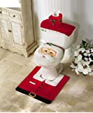 Amazon Price History for:OliaDesign Christmas Decorations Happy Santa Toilet Seat Cover and Rug Set
