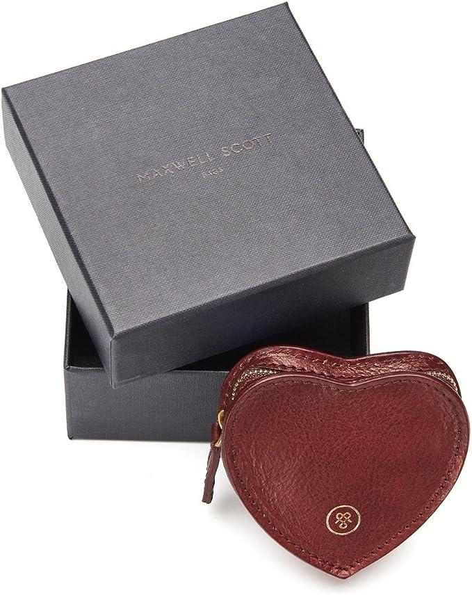 rouge bordeaux Maxwell-Scott Savona Porte-cartes en cuir nappa pour femme Bordeaux Rouge - Savona/_948