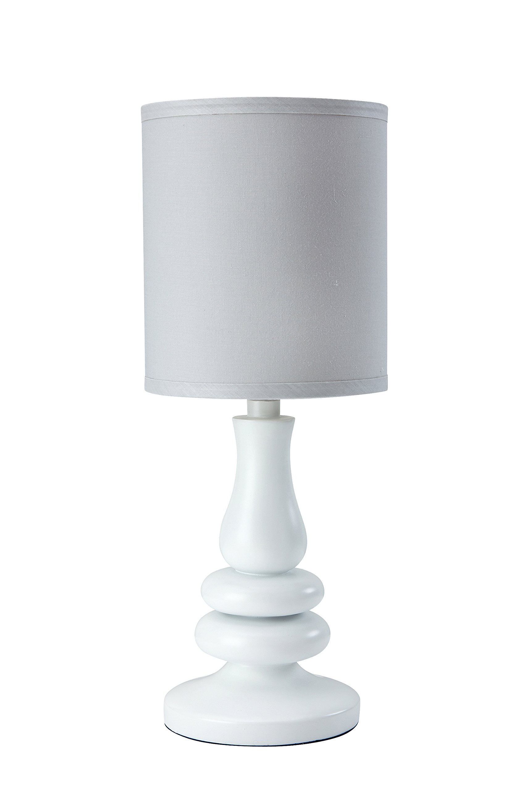Little Love by NoJo Separates Collection Lamp and Shade, Grey/White by NoJo