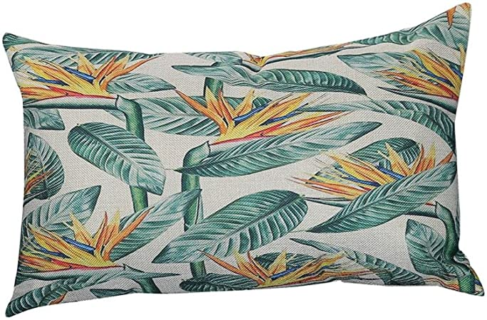Fossrn Fundas de Cojines Almohada Tropical Hojas Funda de Cojines para Sofa Jardin Cama Decorativo - 30x50 cm (A): Amazon.es: Hogar