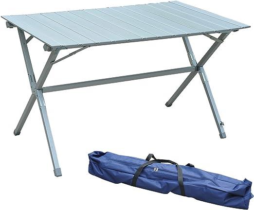 HOMCOM Outsunny Mesa Plegable Camping 115x70x70cm Mesa Aluminio + ...