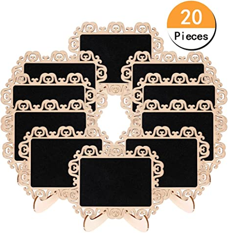 Amazon.com: DSSY - Lote de 20 mini pizarras de madera con ...