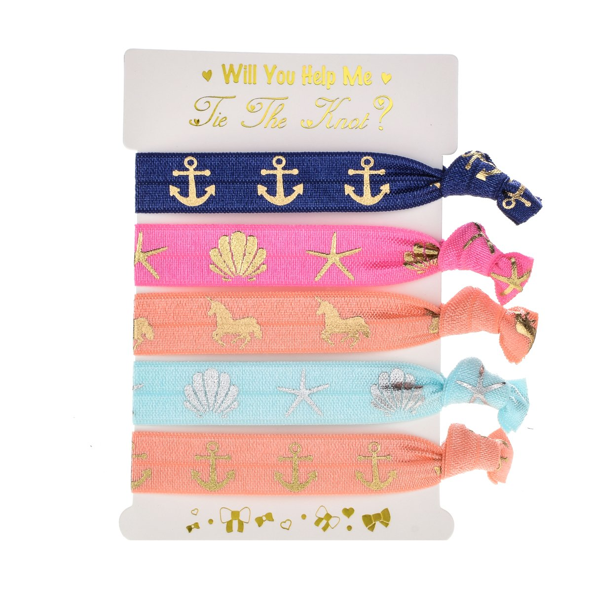 Amazon.com  DDazzling Girls Unicorn Hair Ties Elastic Hair Ties Party  Favors ( Darl Blue Pink Green)  Clothing 8f93e5b69c3