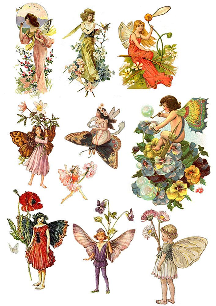 Ceramic Decal Waterslide Decal Images Glass Decal to Choose from Enamel Decal Choose Either Ceramic 3 Different Size Sheet Fairies of Old Enamel 89280 or Glass Fusing Decals