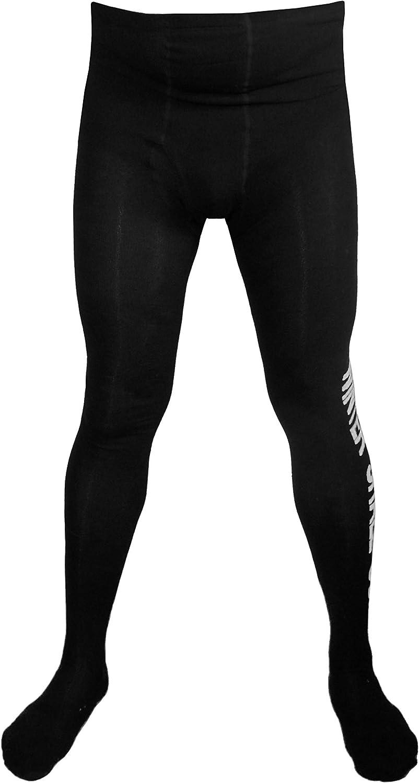 Farbe:Schwarz//Wei/ß Gr/ö/ße:50//52 Weri Spezials Herrenstrumpfhose mit Eingriff