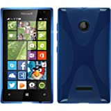 Funda de silicona para Microsoft Lumia 435 - X-Style azul - Cover PhoneNatic Cubierta + protector de pantalla