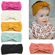 Udobuy6 Pcs Super Cute Baby Girls Toddler Elastic Headbands Turban Knot Hairband Headwear (6 Pcs headband)