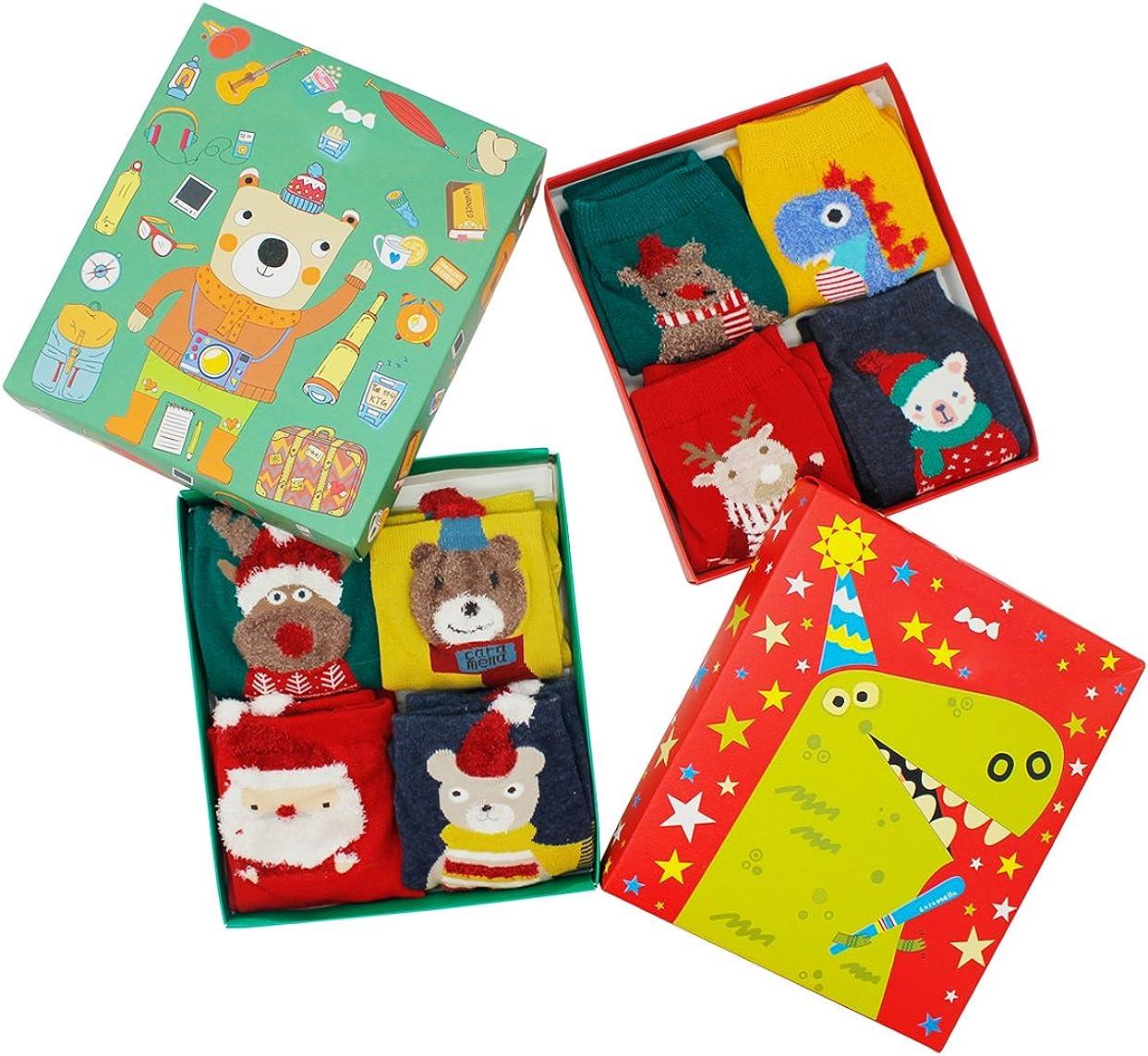Womens Holiday Socks for Christmas Casual Animal Colorful Soft comfortable Pure Cotton Socks 8 Pairs
