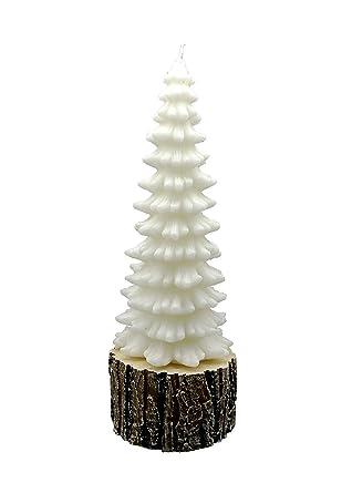 Weihnachtsdeko Rinde.Amazon De Girm Me94592 Weihnachtskerze Tannenbaum Auf Rinde H 32