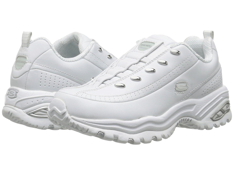 SKECHERS PREMIUM SLIP On Premix No Lace Tennis Shoes Women Size 6 White 1704