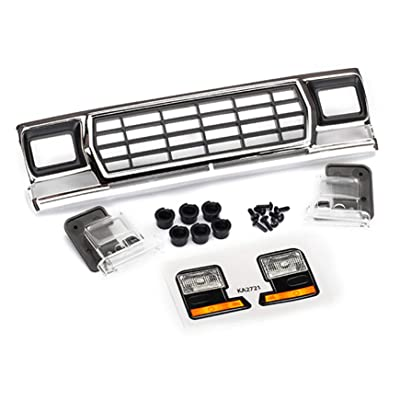 Traxxas 8070 Ford Bronco Grill and Headlight Housing, Black: Toys & Games