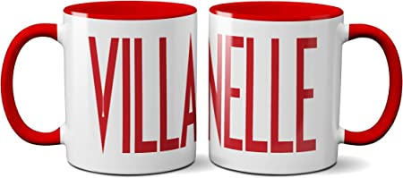 Villanelle TV Show Mug- Eve TV Program Drama Mystery Love Killing Christmas Action Thriller Merchandise Unisex Shopper Bag Sack Red Handle Prime: Amazon.es: Hogar