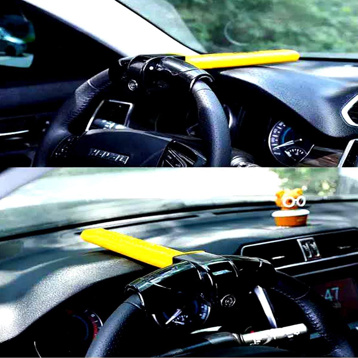 Caravans Vans Universal Steering Wheel Lock,steering wheel lock for cars,Heavy Duty Antitheft Locking Devices,T-Bar Steering Wheel Lock with 2 Keys,Universal Steering Wheel Clamp for Cars,Trailer