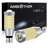 AMBOTHER T15 LED Canbus Rückfahrlicht 3014SMD 87LED Nebelleuchte No Error lampe Licht Xenon Weiß 2 Stück