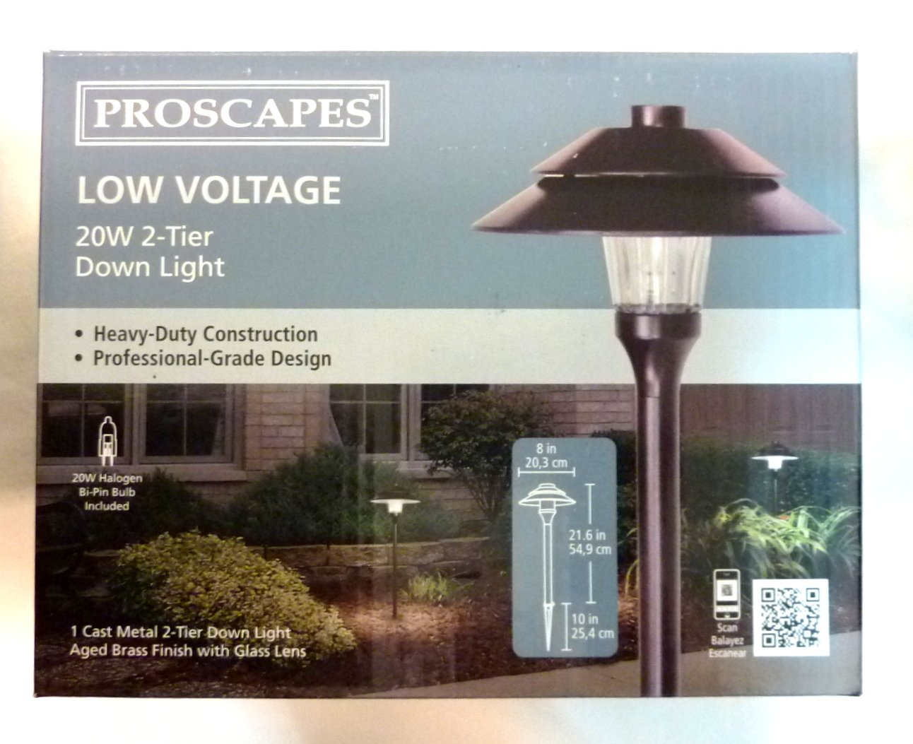 Amazon.com  4 Pack Malibu / Proscapes 8608-0101-04 2-Tier Down Lights for Yard Landscapes Paths 20 Watts in Aged Brass Finish BY MALIBU DISTRIBUTION ... & Amazon.com : 4 Pack Malibu / Proscapes 8608-0101-04 2-Tier Down ...