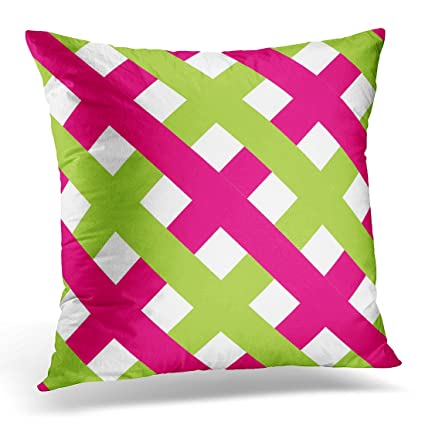 Amazon VANMI Throw Pillow Cover Green Outdoor Chic 40 Hot Pink Classy Pink And Green Decorative Pillows