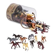 Terra by Battat – Horses – Assorted Miniature Horse Toys & Cake Toppers For Kids 3+ (60 Pc)