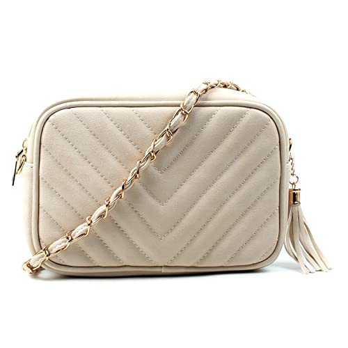 21d05b99089d Aossta Women Ladies Shoulder Quilted Handbag Gold Chain Faux Leather Cross  Body Bag (0833 Small