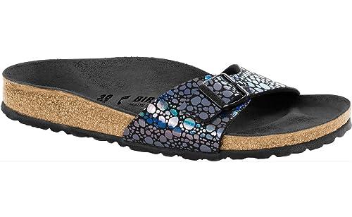 9a6c453b32fb Birkenstock Madrid Regular Fit - Metallic Stones Black 1008803 (Man-Made)  Womens Sandals 36 EU: Amazon.co.uk: Shoes & Bags