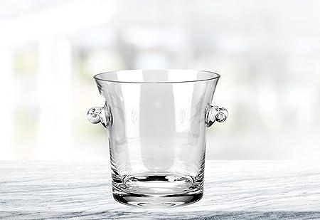D - Cubo de hielo para centro de mesa, cristal de alta calidad ...