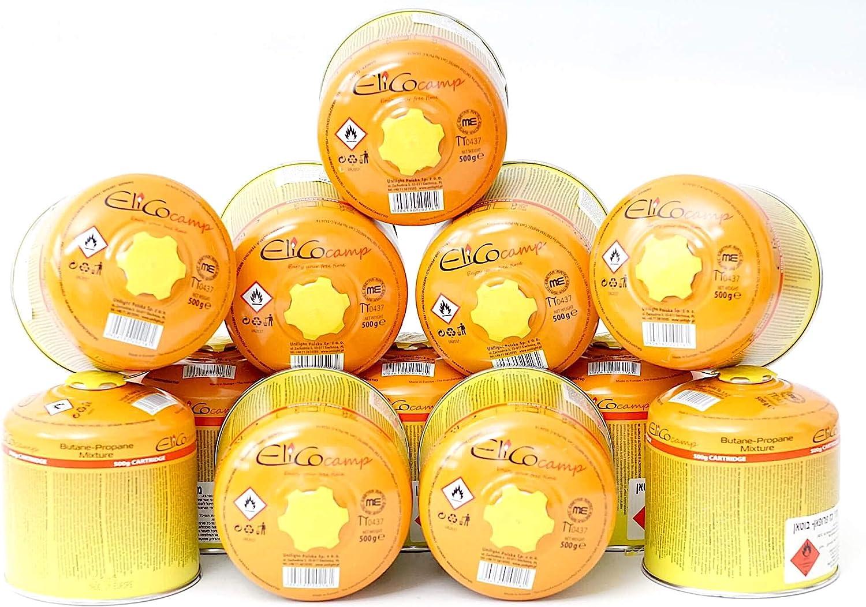ELICO EN417-12 cartuchos de gas enroscables de 500 g, para ...