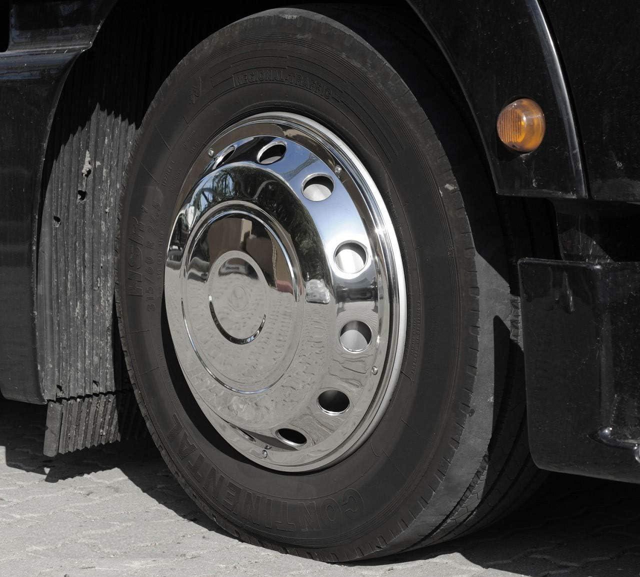 Camiones Tapacubos 22,5 Encorvada Acero Inoxidable: Amazon.es ...