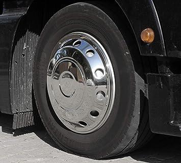 Camiones Tapacubos 22,5 Encorvada Acero Inoxidable: Amazon ...