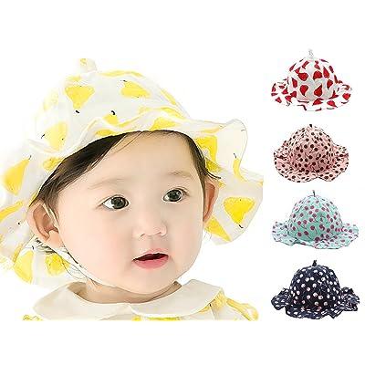 4236ca78cea3 NinkyNonk Baby Girl Wide Brim Sun Protection Bucket Hat Reversible Cute  Fruit Toddler Bonnet Caps