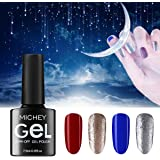 MICHEYGel Gel Nail Polish,Soak Off UV Gel Nail Set