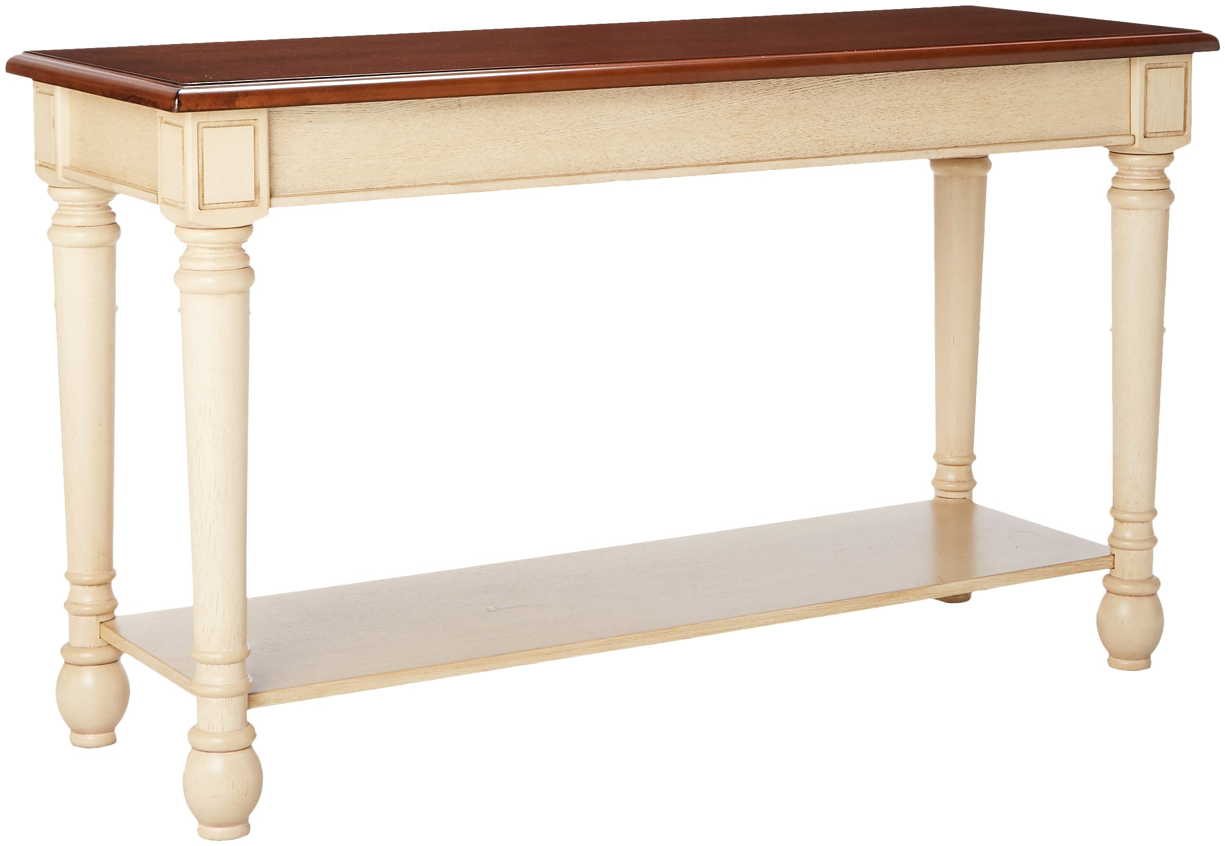 Coaster Home Furnishings 704419 Sofa Table, NULL, Dark Cherry/Antique White