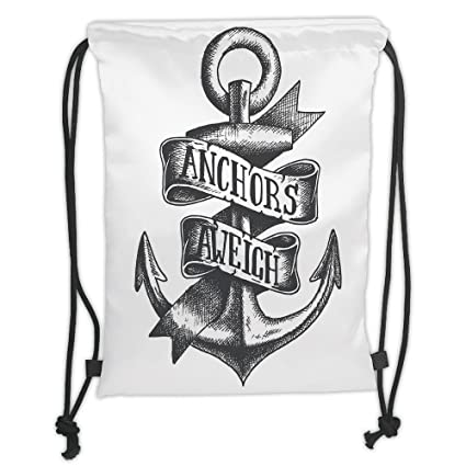 Amazoncom Custom Printed Drawstring Sack Backpacks Bagsanchor