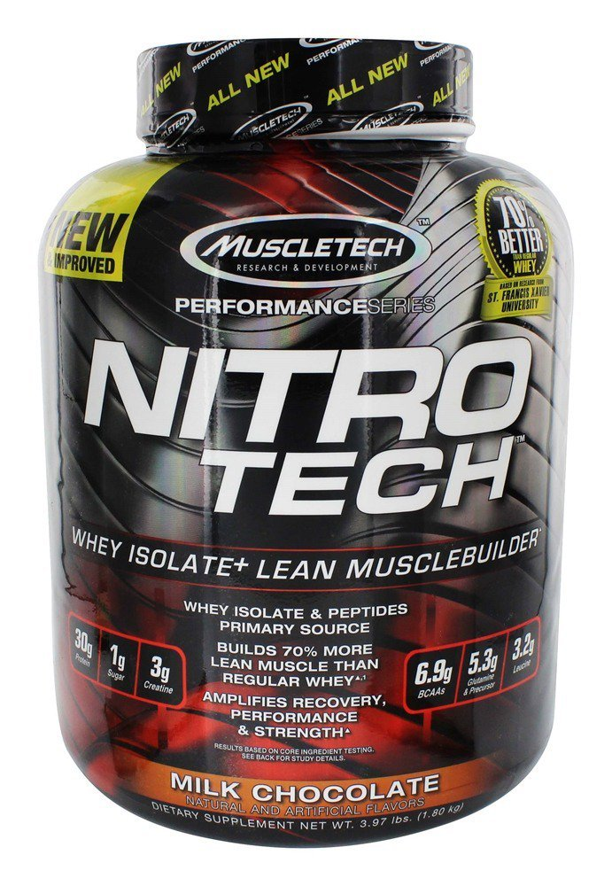 Muscletech, ニトロテック、ホエイペプチド&ホエイアイソレート ミルクチョコレート (1.81 kg)(海外直送品) B008MCXALO