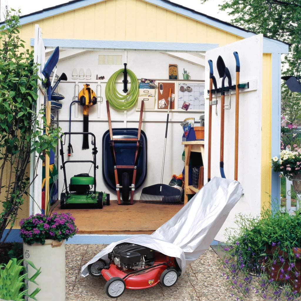 Kayme Push Lawn Mower Cover Waterproof Universal Fit 4 Layers Heavy Duty Mower Tarp Outdoor Sun Snow Uv Rain Dust Protection