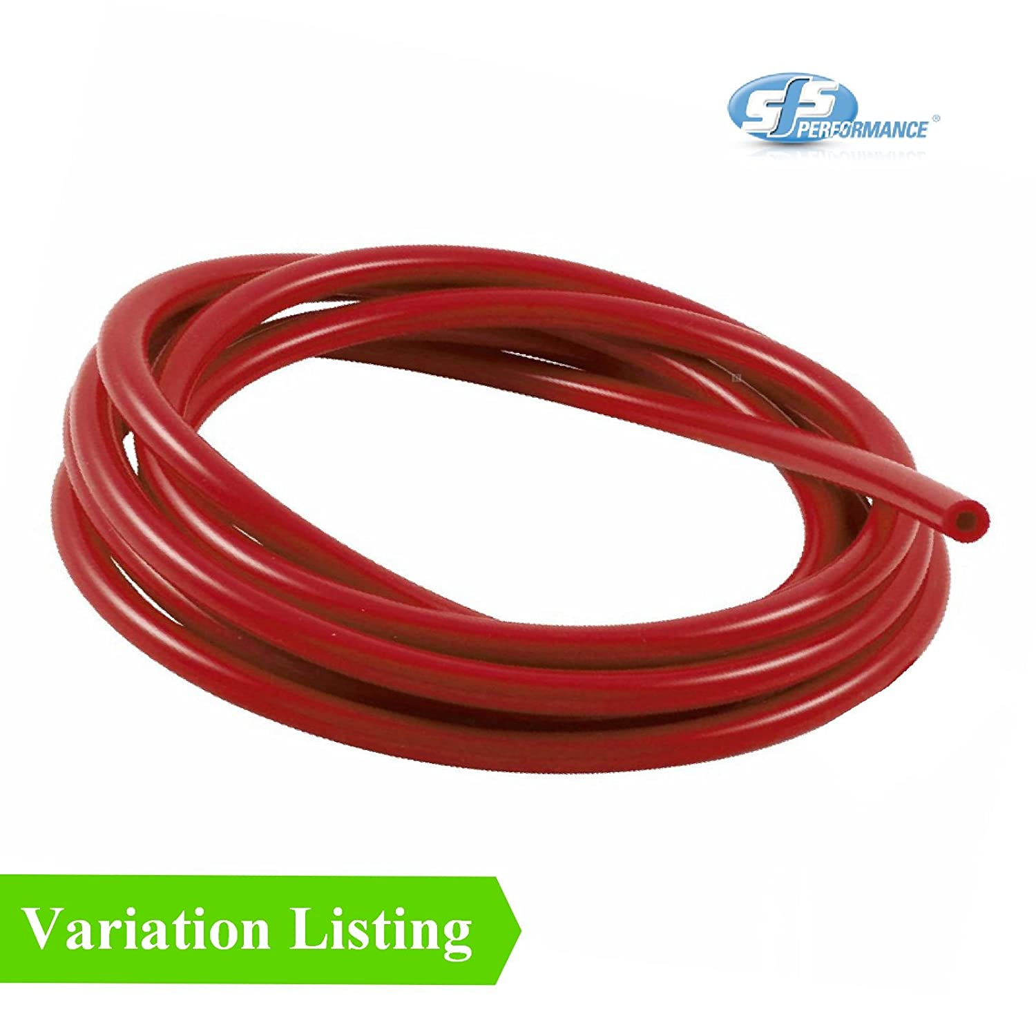 1 Metre Red Silicone Vacuum Hose / Turbo Rubber Tube Air Water Pipe [ 3mm ] SFS