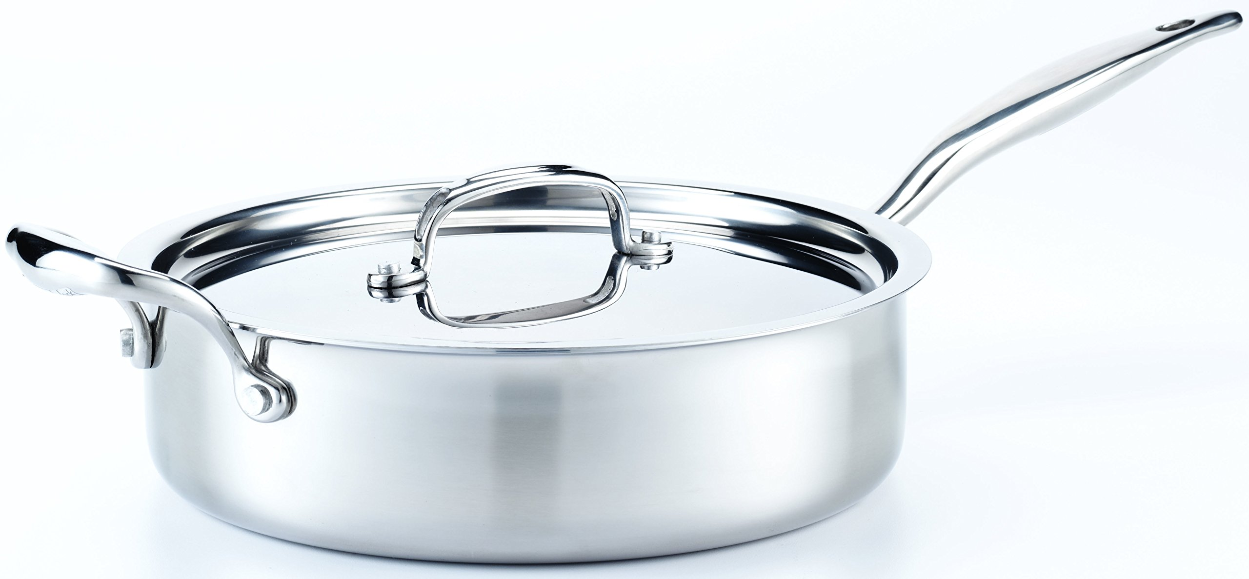 Hammer Stahl 4 Quart Deep Saute Pan with Cover