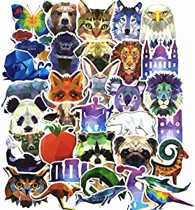 35-Pcs PVC Stickers Vinyl Animals Laptop Car Decals Waterproof Sunlight-Proof Durable for Cars Motorbikes Luggage Skateboard Decor
